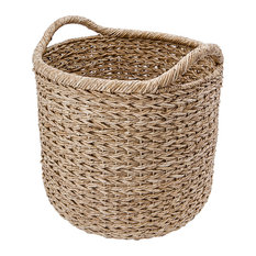 Extra Large Handwoven Decorative Storage Basket in Twisted Sea Grass