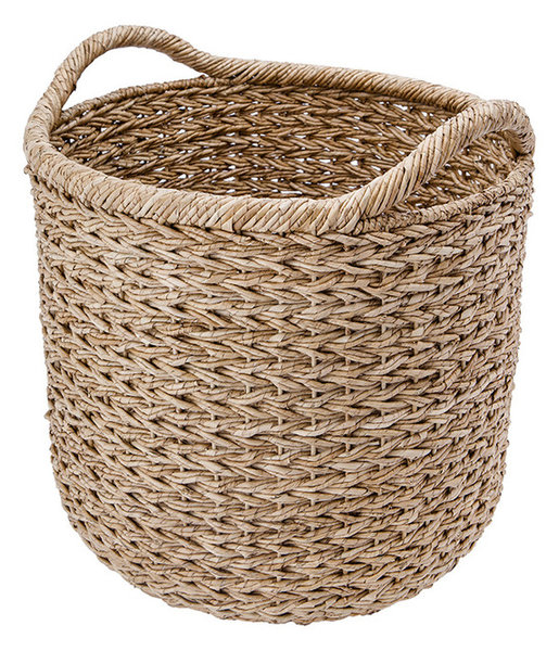 extra large handwoven decorative storage basket in twisted sea grass beach style baskets. Black Bedroom Furniture Sets. Home Design Ideas