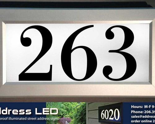 Address LED - illuminated house numbers - House Numbers