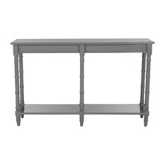 Safavieh Noam Modern Coastal Bamboo Console Table, Gray