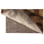 Nourison - Rug-Loc Tan Rug Pad, 9'x12' - 10 Year Guarantee. Will retain non-slip properties, with proper care. Rug pads protect the rug - s weave, extending the life of the rug, and protecting your investment. Rug pads provide extra padding, increasing comfort, insulation, and sound proofing in the home.Reversible-provides superior protection on both hard surfaces AND carpet. Use with the needle-punched fabric down while on carpet, and with the textured waffle-backing when on wood, tile, and other hard surfaces. The needle-punched fabric and textured waffle-backing provides improved gripping power. 100% post industrial recycled synthetic fibers. Green Label Plus certified. Cut with household scissors to perfectly fit your rug! Fire-retardant & moth-proofed. Provides the ultimate in cushioning and insulation, to prevent pile crush & extend rug life. Superior thickness is ideal for tile and uneven surfaces & reduces puckering under furniture. All sizes are approximate. Use size that represents standard rug range. Rug-Loc pad can be cut with household scissors to custom fit your rug.