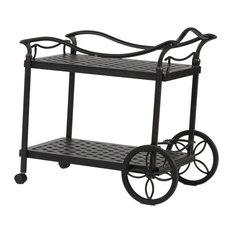 Sparta 2 Tier Outdoor Serving Aluminum Tea Cart for Indoor & Outdoor Use