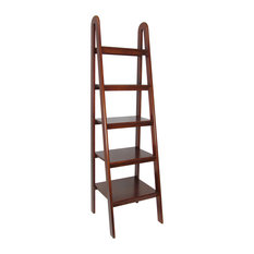 Leaning Ladder Bookcase, Brown
