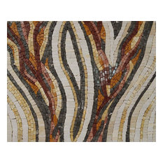 """Mozaico - Abstract Snake Pattern Mosaic, 42""""x54"""" - Tile Murals"""