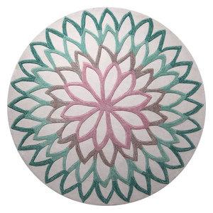 Lotus Espirt Turquoise Circle Funky Rug, 150x150 cm