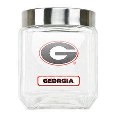 University Of Georgia Glass Canister - Medium