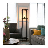 Industrial Floor Lamp 1 Black - Big Cage