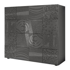 Miro Decorative Highboard, Grey Gloss
