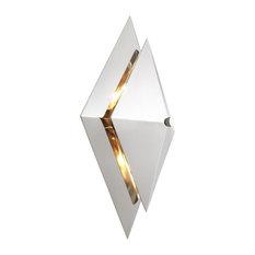 "Silver Diamond Wall Lamp | Eichholtz Augustas, Silver, 11""Wx5""Dx16""H"
