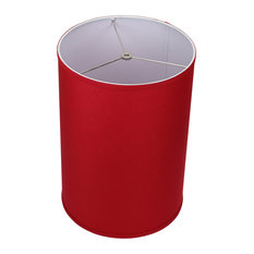 """FenchelShades Drum Lampshade, Linen Rich Red 12""""x12""""x17"""""""