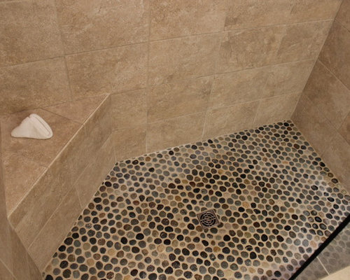 Tiled Masterbath with Makeup Vanity ~ Medina, OH #1 - Wall And Floor Tile