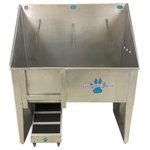 "Groomer's Best - Walk-Through Dog Wash/ Utility Sink, 36"", Right Drain - Features:"