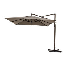 Abba Patio   Abba Patio 10u0027 Heavy Duty Square Offset Cantilever Outdoor  Umbrella, Tan