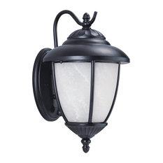 "Sea Gull Yorktown 16"" Outdoor Wall Light in Black"
