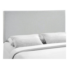 Region Queen Upholstered Fabric Headboard, Sky Gray