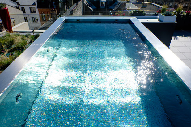 Piscine de la semaine de l 39 inox pour un bassin hors sol for Piscine inox