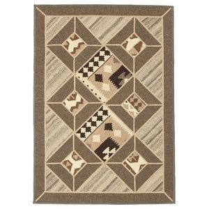 Kelim Mosaik Oriental Rug, Hand-Woven Classic, 170x120 cm