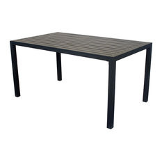 Outdoor Medium Palma Dining Table, Anthracite