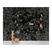 Domestic Foret Scenic Wallpaper, 8 Strips, Noire
