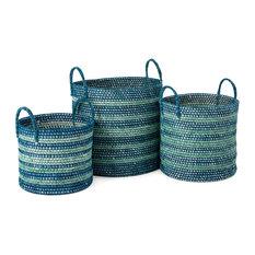 Imax Set Of 3 Cottage Baskets 23219-3