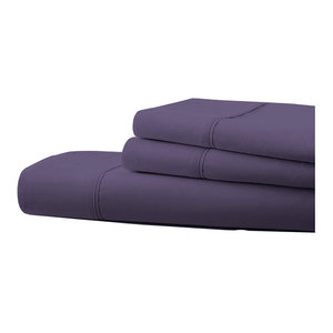 1800 Count 6-Piece Egyptian Cotton Deep Pocket Sheets, Purple, Full / Double