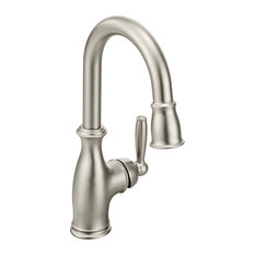 Moen Brantford Spot Resist Stainless One-Handle Pulldown Bar Faucet 5985SRS