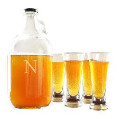 Personalized 64 Oz. Craft Beer Growler & Tasters Set, N