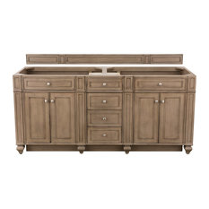 "Bristol 72"" Whitewashed Walnut Double Vanity"