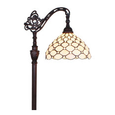 Amora Lighting Am028Fl12 Tiffany Style 62 Inch Jeweled Reading Floor Lamp