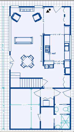 Need help with a floor plan for farmhouse reno for Kitchen design 47905