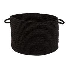 """Rhody Rug Wear Ever Black Poly 18""""X12"""" Basket"""