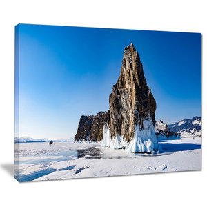 Winter Lake Baikal Panorama Canvas Art 3 Panels 36 X28 Contemporary Prints And Posters By Design Art Usa Houzz