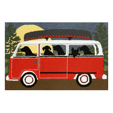 """Frontporch 1474/24 Camping Trip Red, 36""""x24""""x0.38"""""""