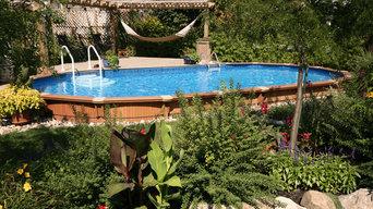 Oval Semi in Ground Pool - Aqua-Bois