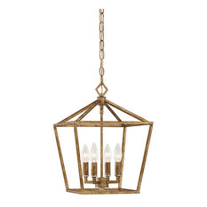 Millennium Lighting 3000 Series 4-Light Pendant, Vintage Gold