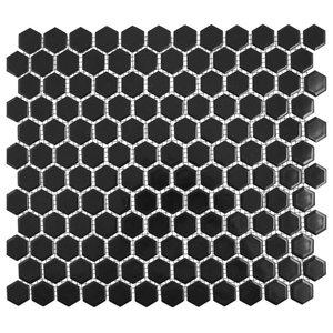 Hexagon Matte Tiles, 1 Sheet, Black