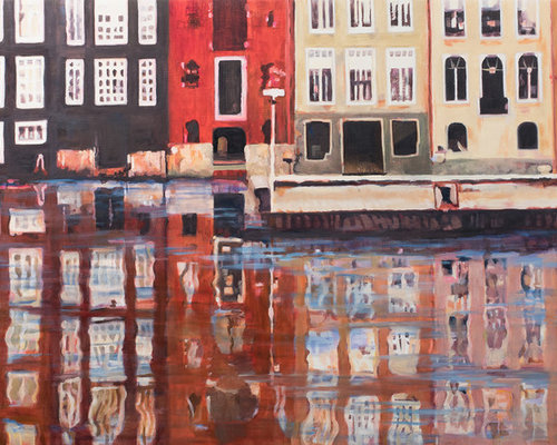 Reflecting Along the Canal - Commissioned work - SOLD - Paintings