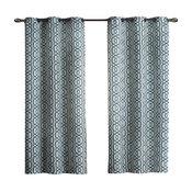 "Alexander Polyester Blackout Grommet Curtain, Blue, 76""x84"""