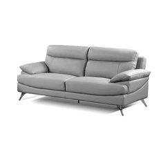 All In One Furniture Leather Sofa Light Gray Sofas