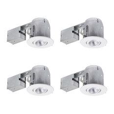 contemporary recessed lighting. White Recessed Kit (4-Pack), LED Contemporary Recessed Lighting A