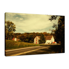 """Greenbank Mill"" Colorized Rural Landscape Photo Fine Art Canvas Wall Art Print,"