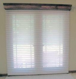 french door window treatment ideas sheer fabrirc window shadings over wood cor window treatments