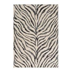 "Ecorse Animal Zebra 9'3"" x 12'3"" Rectangle Area Rug"
