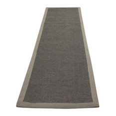 Sisal Runner, Mocha With Taupe Border, 68x300 cm