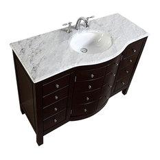 "48"" Traditional Single Sink Bathroom Vanity"
