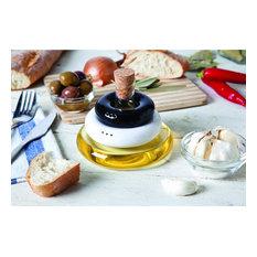 Table Set: Salt, Pepper and Olive Oil