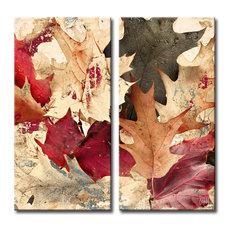 "Fall Ink IX, Canvas Wall Art 2-Piece Canvas Art Set, 40"""