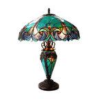 Liaison 3-Light Victorian Double Lit Table Lamp