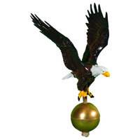 Aluminum Satin Black Flagpole Eagle, Natural
