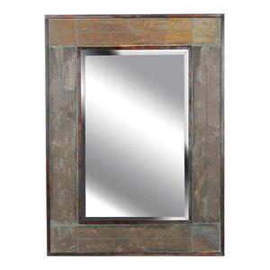 White River Wall Mirror, Natural Slate Finish
